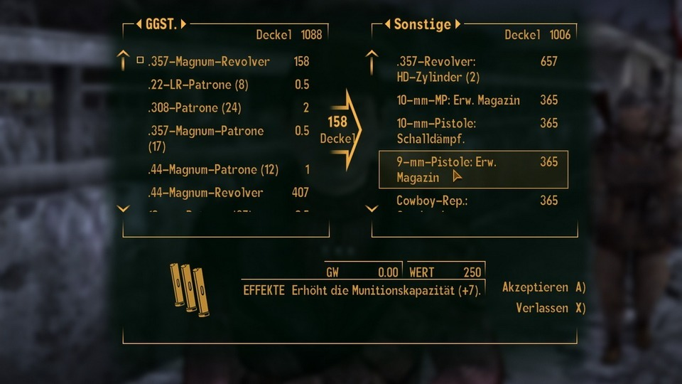 Fallout: New Vegas Testbericht – Waffenupgrades