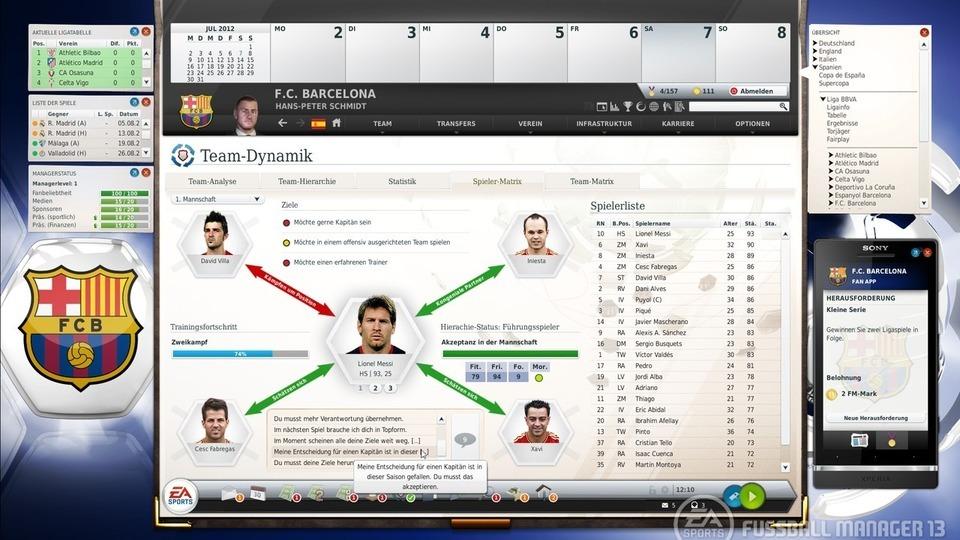 Fussball Manager 13 Spielermatrix