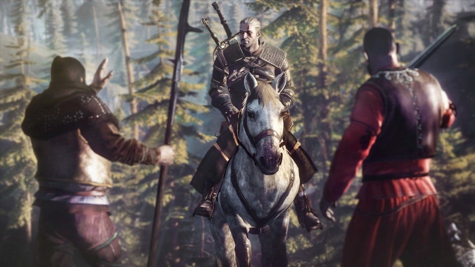 The Witcher 3: Die Wilde Jagd Screenshot – Geralt von Riva auf dem Pferd
