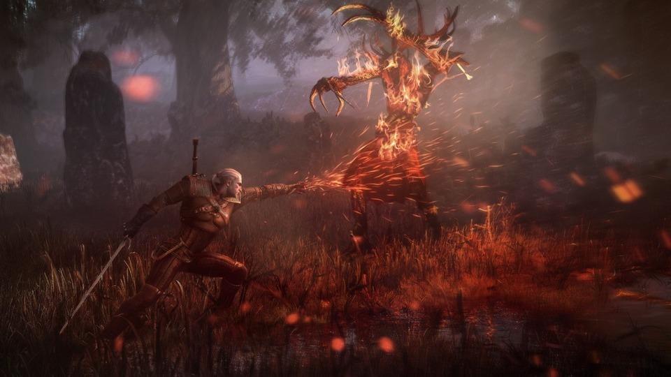 The Witcher 3: Die Wilde Jagd Screenshot – Kampf gegen den Leshen