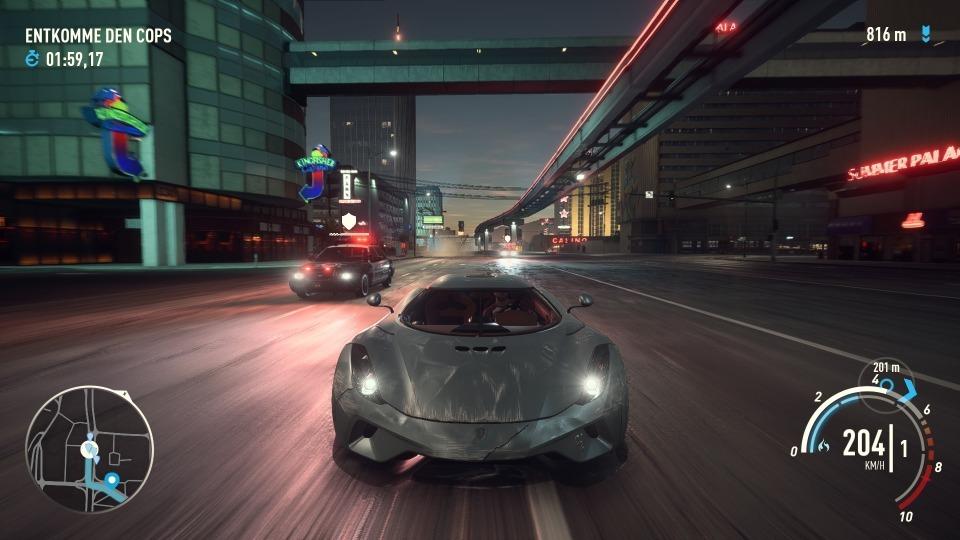 Auf der Flucht mit dem Koenigsegg Regera