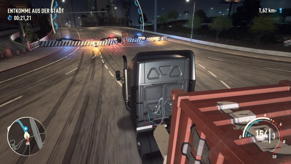 Unterwegs mit einem Lkw in einer Blockbuster-Mission