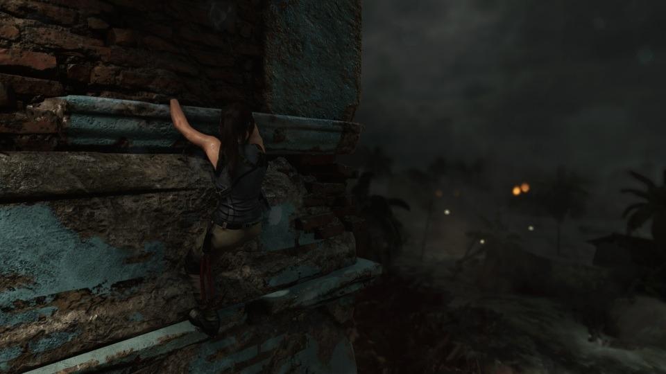 Lara konnte sich vor der von ihr ausgelösten Katastrophe noch retten.