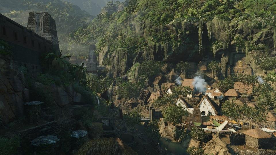Eines der wenigen Dörfer in Shadow of the Tomb Raider, das viel Erkundungs- und Sammelmöglichkeiten sowie Aufgaben bietet.