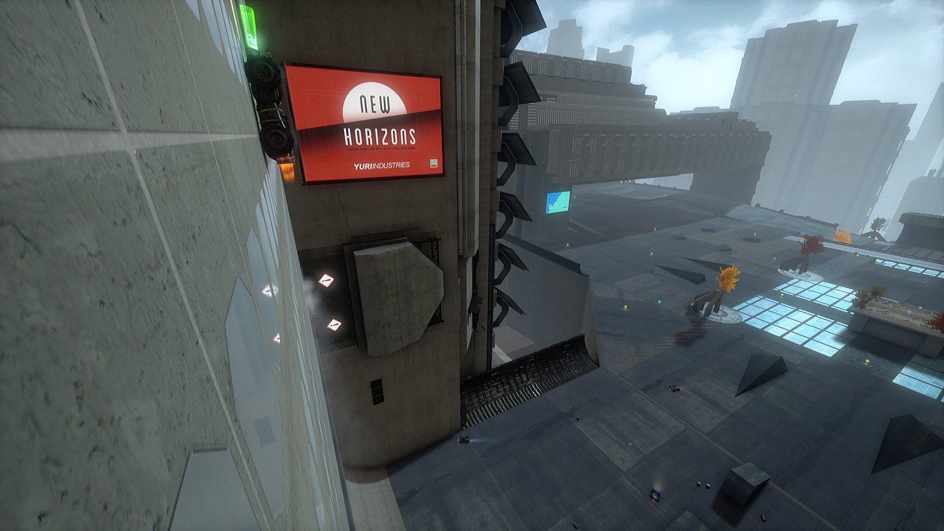 Arena für den Deathmatch-Modus – die Power-Ups und Waffen sind schon positioniert.